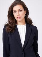 Louben - Tailored Triacetate Blend Blazer , Blue, hi-res