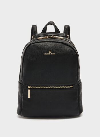 Céline Dion – Genuine Leather Backpack, Black, hi-res