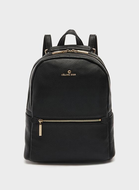 Céline Dion – Genuine Leather Backpack, Black, hi-res