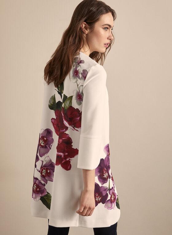 Joseph Ribkoff - Floral Open Front Redingote, White