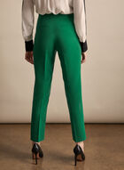 Pantalon coupe Amber à pinces, Vert