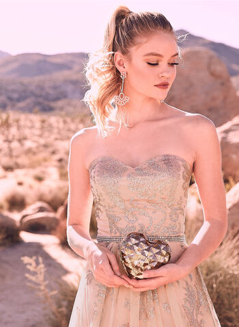 Cachet - Glitter Embellished Tulle Gown, Pink, hi-res,