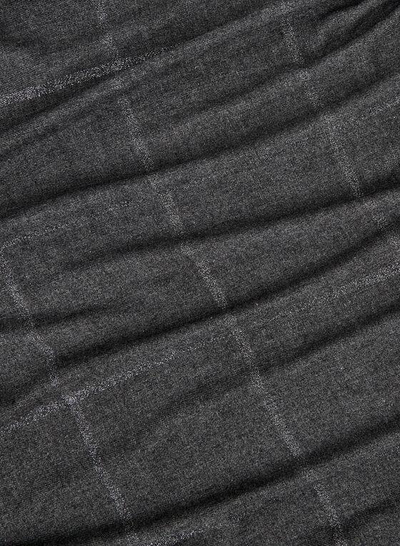 Foulard carré à fibres métallisées, Noir, hi-res