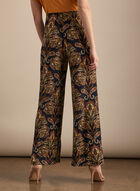 Paisley Print Wide Leg Pants, Blue