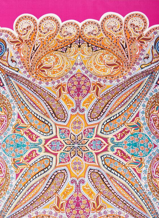 Paisley Print Silk Scarf, Multi