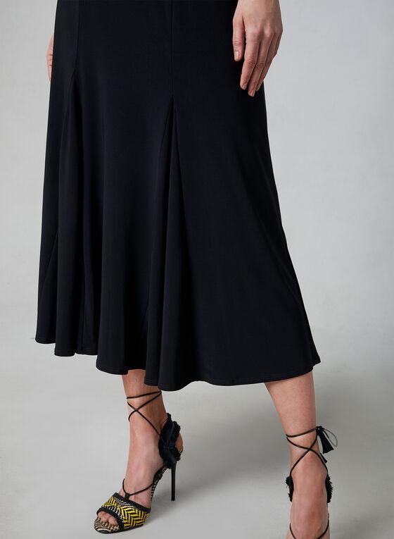 Pull-On Midi Skirt, Black, hi-res