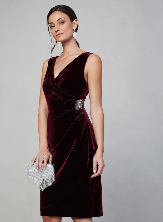 Alex Evenings - Robe en velours à effet drapé, Violet