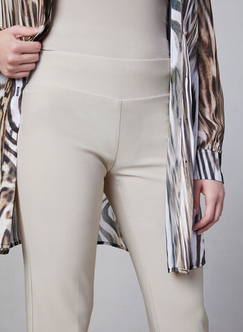 Frank Lyman - Slim Leg Pull-On Pants, Off White, hi-res