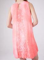 Cartise - Robe en mousseline à empiècements en dentelle, Rose, hi-res