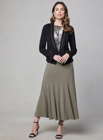 Jersey Maxi Skirt, Brown, hi-res