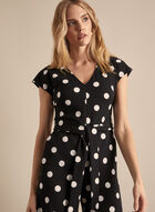 Karl Lagerfeld Paris - Polka Dot Print Long Jumpsuit, Black