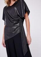 Metallic Drape Top, Black, hi-res