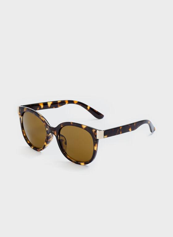 Round Tort Sunglasses, Brown, hi-res