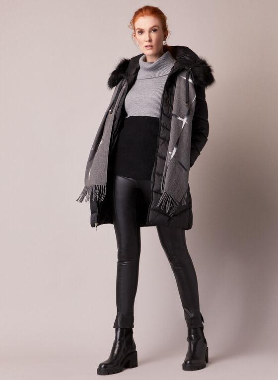 Tahari - Manteau matelassé en duvet végane, Noir