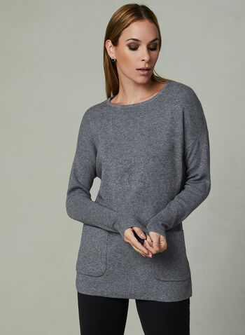 Conrad C - Knit Tunic, Grey, hi-res