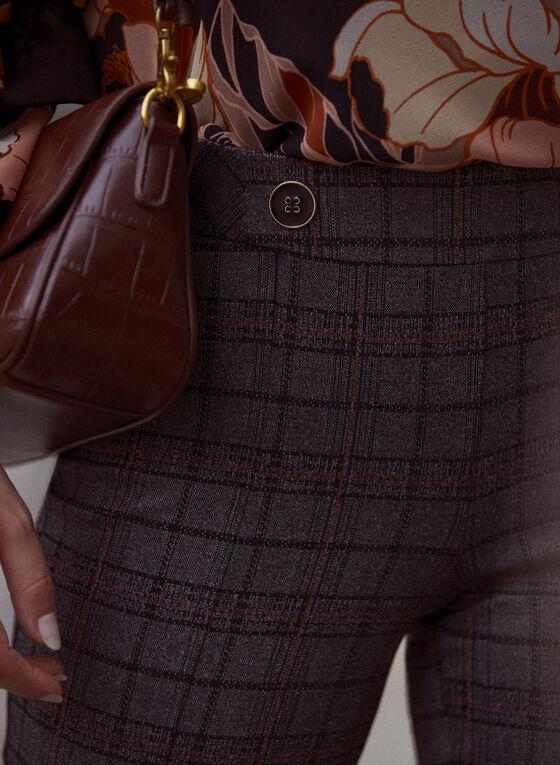 Pantalon Amber à motif de carreaux, Gris