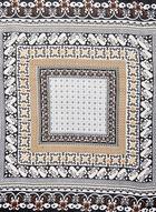 Mosaic Print Square Scarf, Off White, hi-res