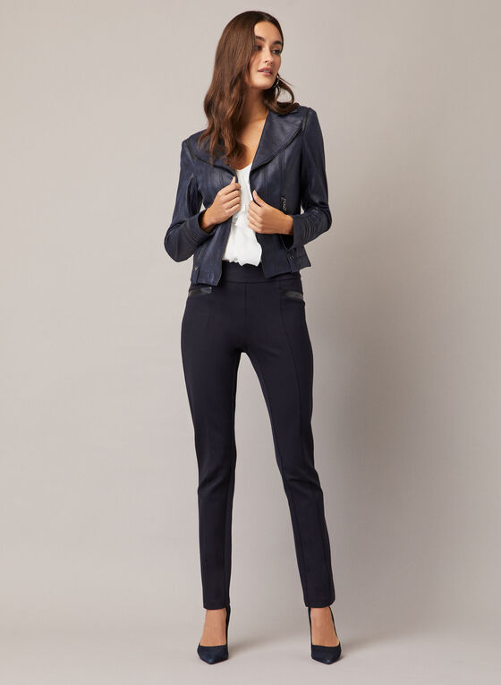 Madison Slim Leg Pants, Blue