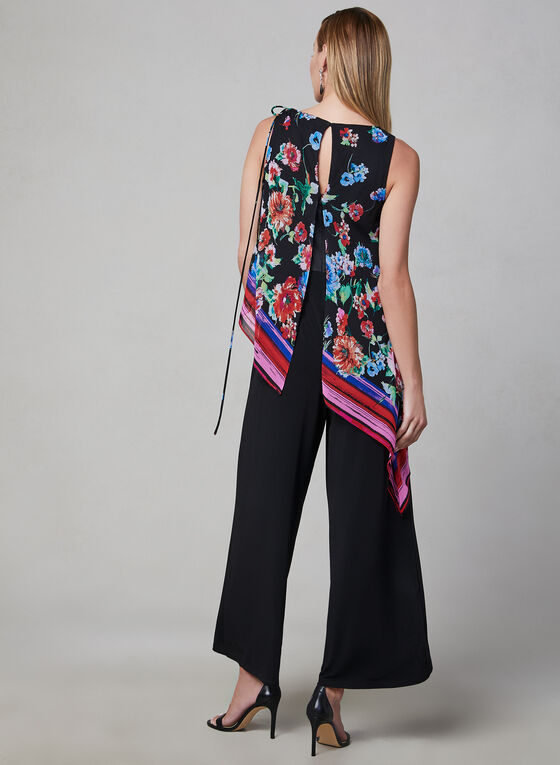 Maggy London - Chiffon Jumpsuit, Black, hi-res