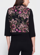 T Tahari  - Floral Embroidered Cropped Blazer, Black, hi-res