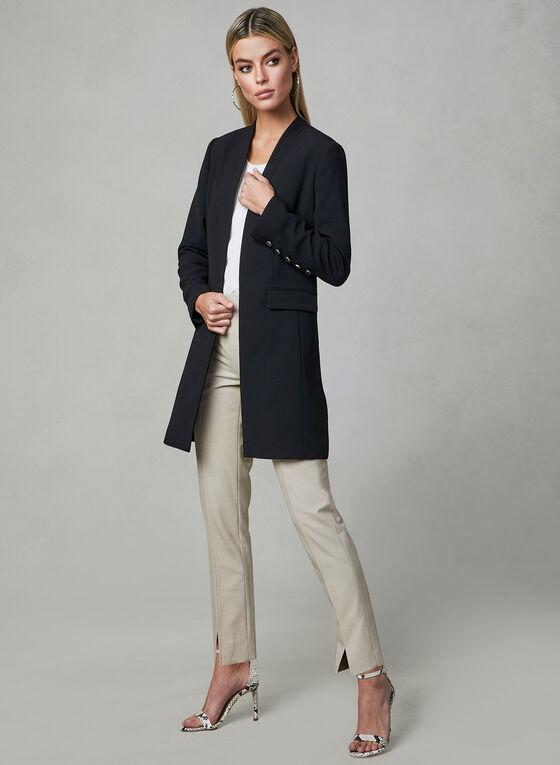 Veste tailleur style redingote, Noir, hi-res