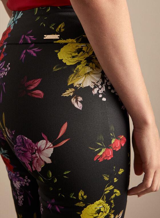 Joseph Ribkoff - Floral Print Pants, Black