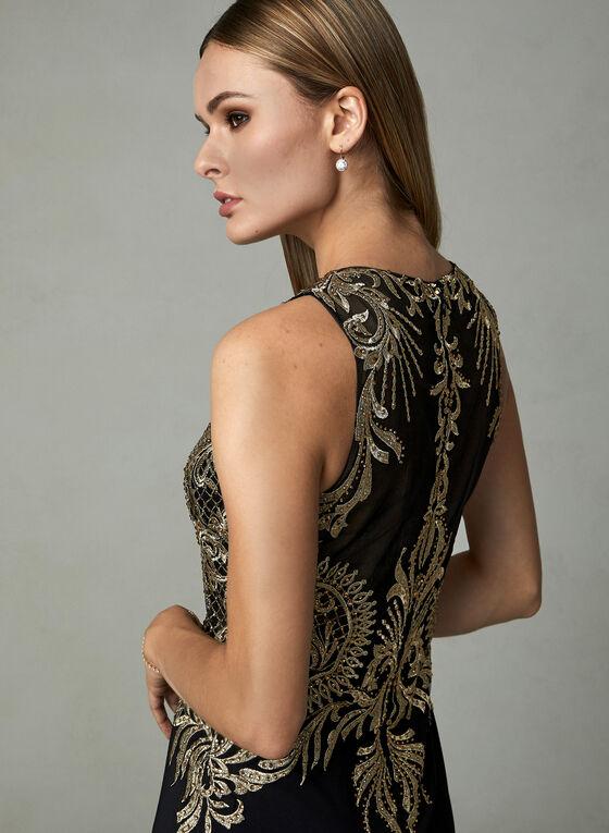 Cachet - Illusion Neck Dress, Black, hi-res