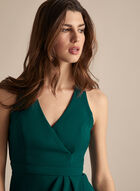 BA Nites - Faux Wrap Evening Dress, Green