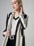 Stripe Print Long Jacket, Black, hi-res