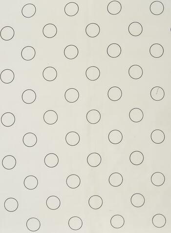 Foulard léger à motifs cercles , Noir,  scarf, square, lightweight, contrast, circle, spring summer 2021