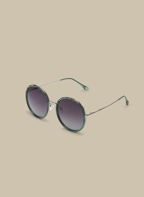 Polarized Round Sunglasses , Green
