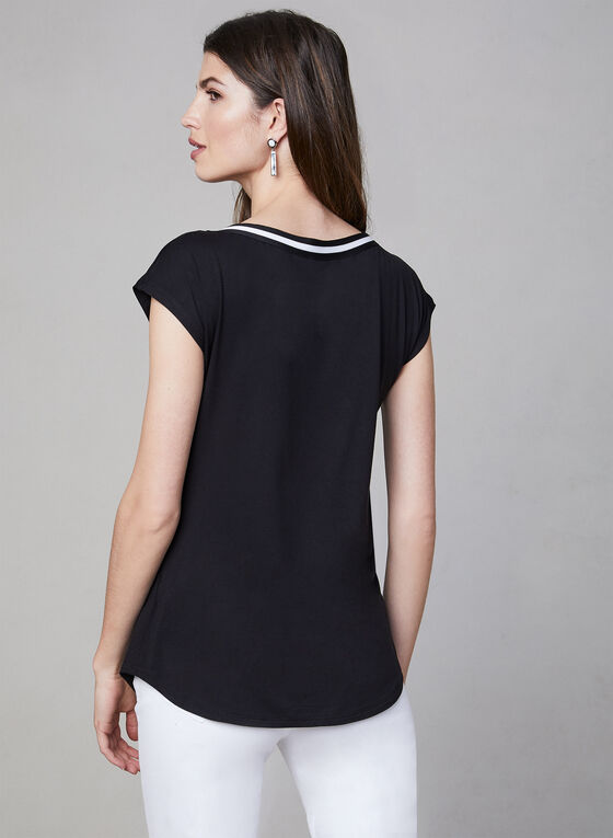 Bamboo Fabric Top, Black