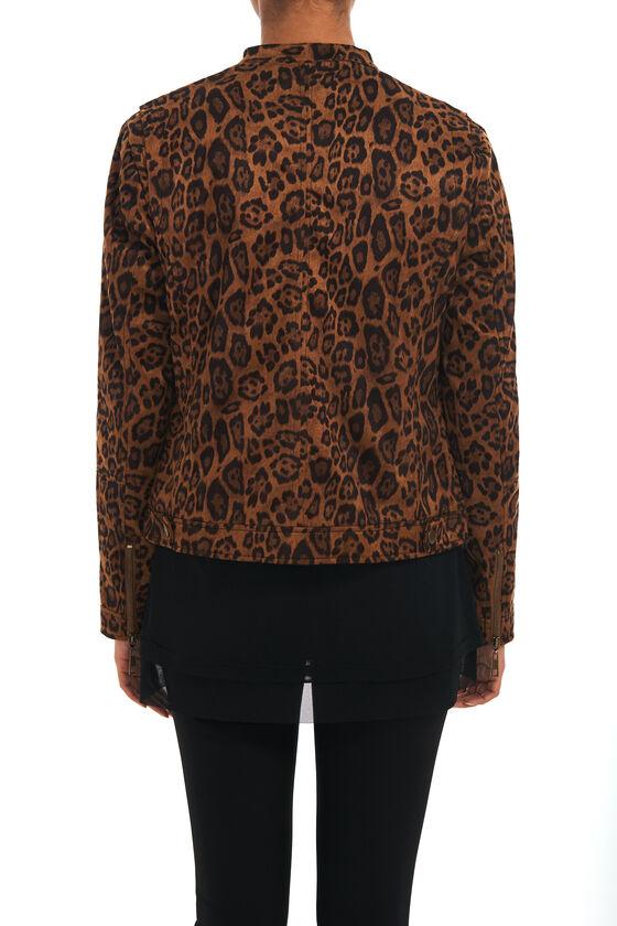 745c3c468 Leopard Print Faux Suede Bomber Jacket | Melanie Lyne