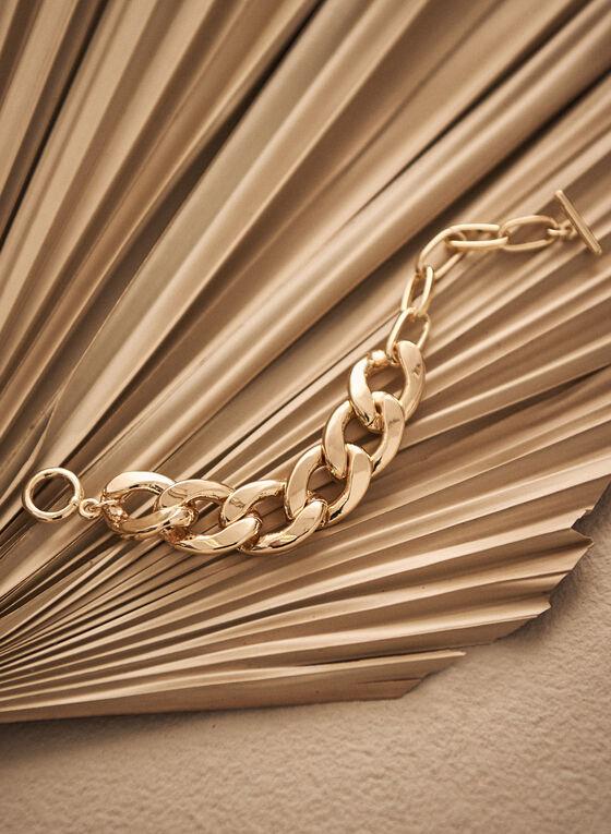 Bracelet doré à larges maillons, Or