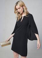 Kensie - Slit Bell Sleeve Dress, Black, hi-res