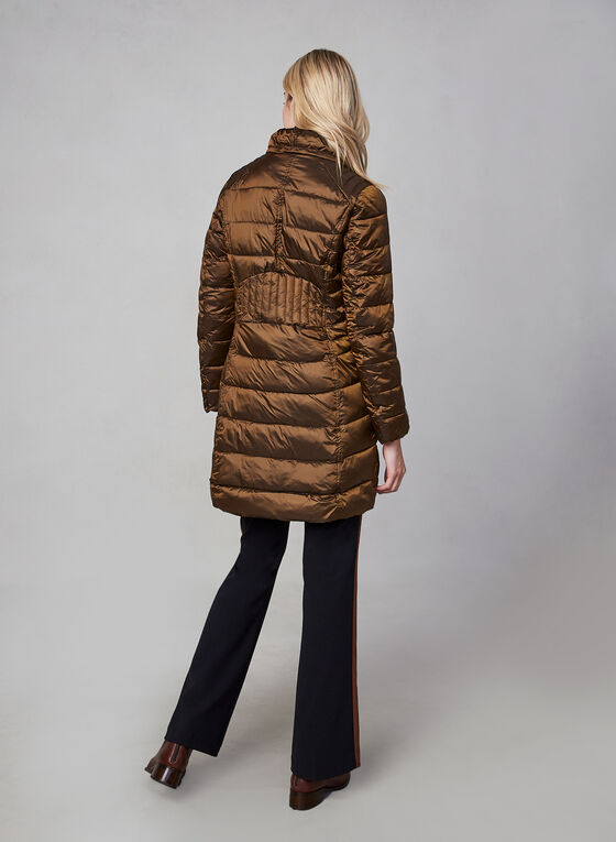 Novelti - Long Down Coat, Brown, hi-res