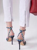 Zip Detail Ankle Pants, White, hi-res