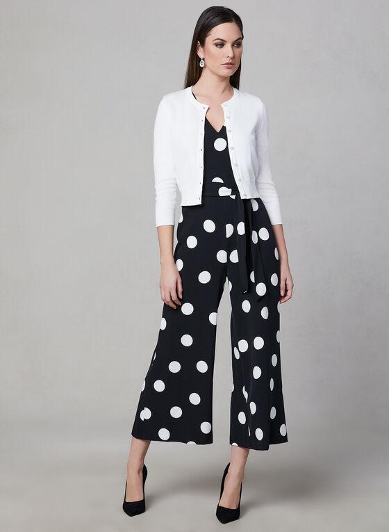 Karl Lagerfeld Paris - Pearl Button Bolero, Off White, hi-res