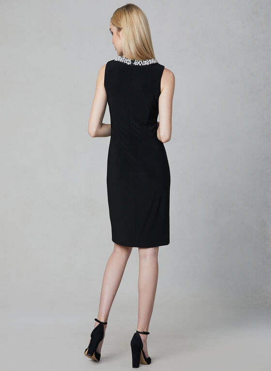 Joseph Ribkoff - Pearl Embellished Sheath Dress, Black, hi-res