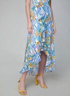 Kensie - Robe fleurie à volants, Bleu, hi-res