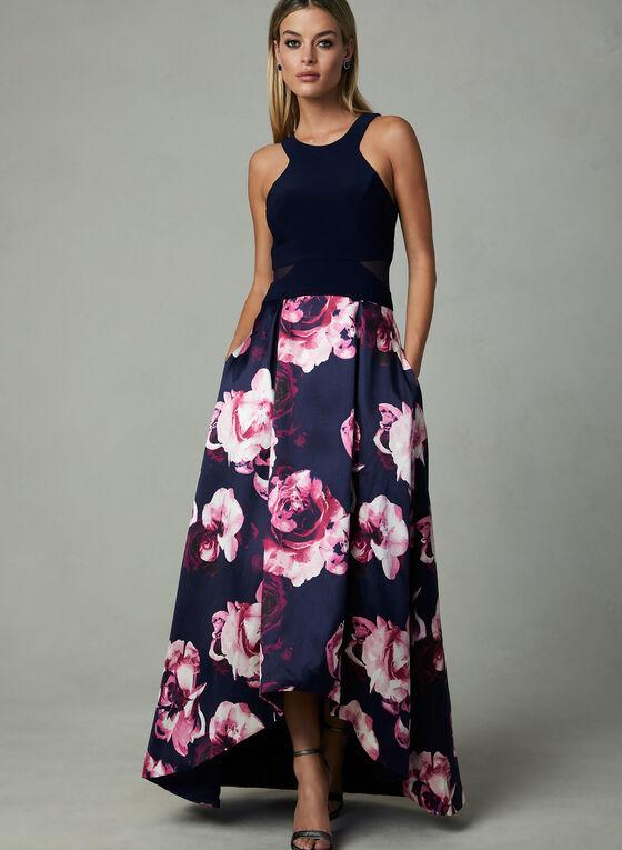 BA Nites - Floral Print Dress, Blue, hi-res