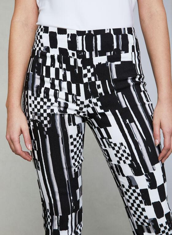Joseph Ribkoff - Abstract Print Slim Leg Pants, Black, hi-res