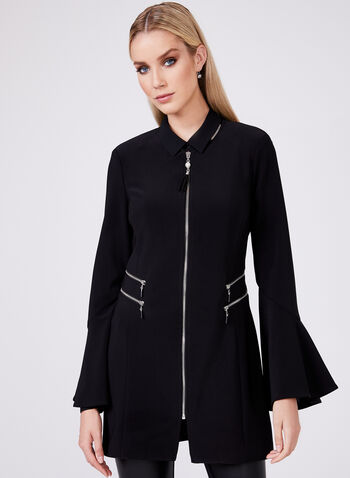 Frank Lyman - Bell Sleeve Jacket, Black, hi-res