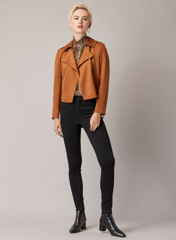 Faux Suede Jacket, Brown,  fall winter 2020, jacket, suede, notched collar, fall winter 2020