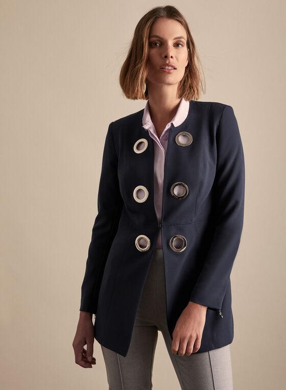 Vex - Redingote Style Blazer, Blue