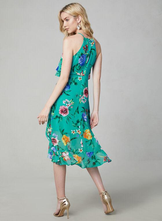 Kensie - Robe fleurie à col cléopâtre, Bleu, hi-res