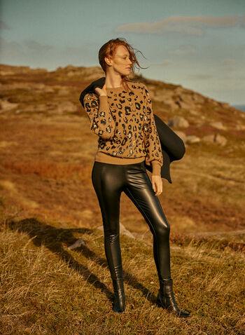 Legging Kayla en cuir végane, Noir,  kayla, pantalon, legging, à enfiler, pull-on, jambe étroite, insertion, point de robe, cuir végane, automne hiver 2021