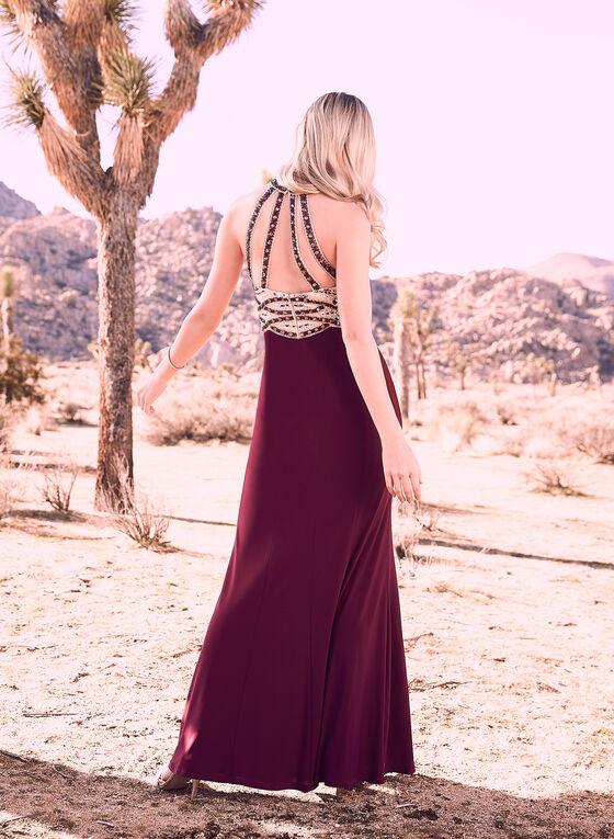 Decode 1.8 - Robe à corsage ornementé et jupe fluide, Violet