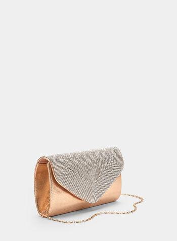 Crystal Embellished Envelope Clutch, Pink, hi-res,  spring 2019, flapover, glitter