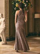 BA Nites - V-Neck Sequin Gown, Purple